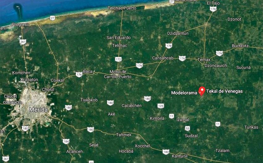 Site of X'baatún, Yucatán.