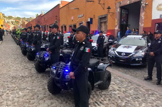 Police in San Miguel are now among those receiving higher pay in Guanajuato.