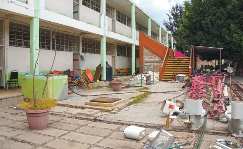 Businesses contracted to repair schools have abandoned the projects and in some cases have disappeared.