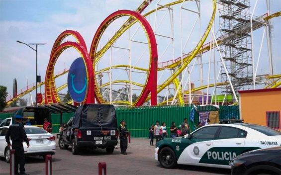 The roller coast where Saturday's accident occurred.