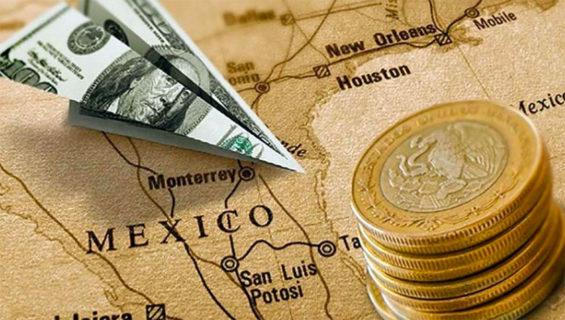 us dollars and mexican pesos