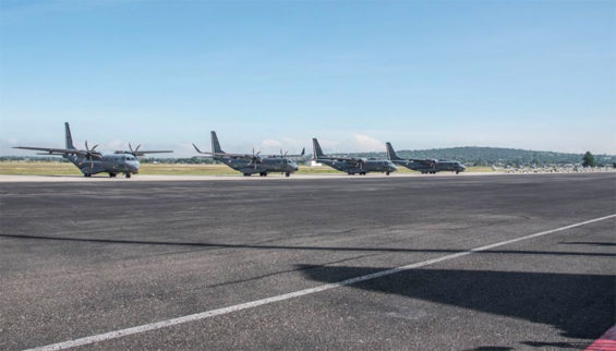 The Santa Lucía Air Force Base, where a new airport may one day rise.