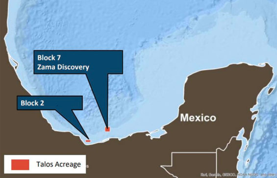 The Zama discovery in the Gulf of Mexico.