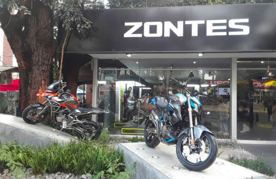 The Zontes motorcycles showroom in Mexico City.
