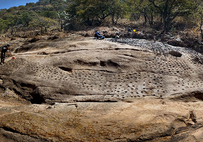Little bowls were carved into the rock of a Jalisco riverbed at least 800 years ago.