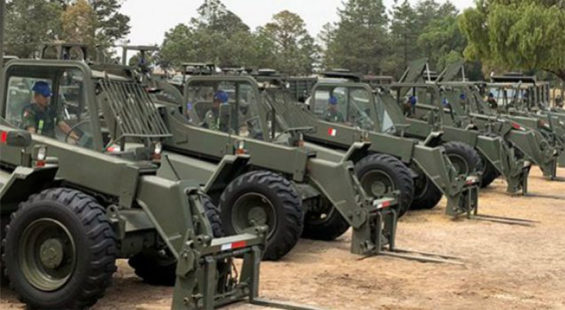 The military's heavy machinery may soon be put to work.