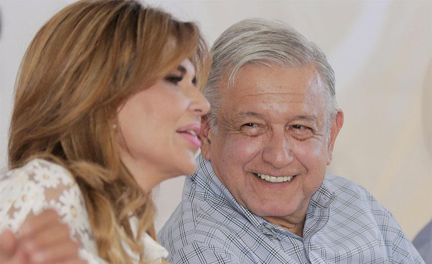 AMLO and Sonora Governor Claudia Pavlovich.