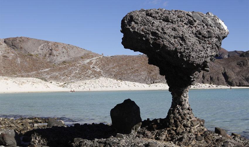 The mushroom-shaped rock at Balandra 2.