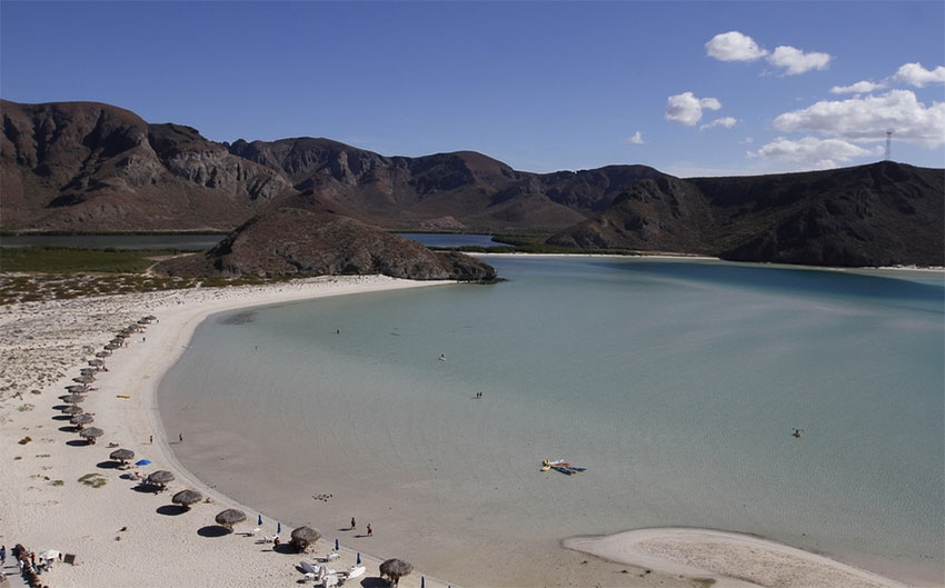 Popular Balandra beach in Baja California Sur