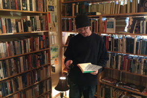 Grant Cogswell in his Mexico City bookstore.