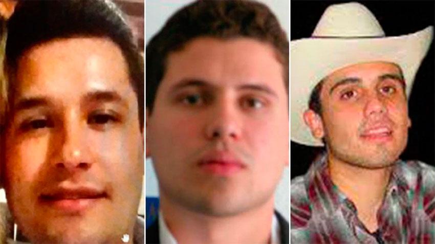 The Guzmán brothers: Jesús Alfredo, Iván Archivaldo and Ovidio.