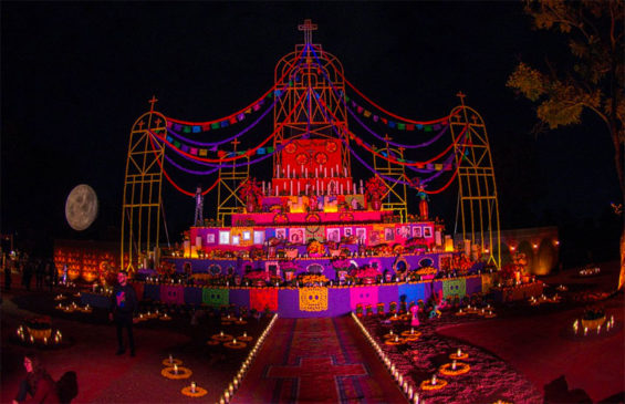 The Day of the Dead theme park opens this week.