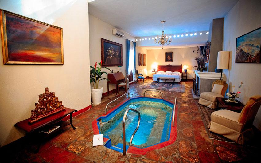 Enjoy your own private pool at Hacienda el Carmen.