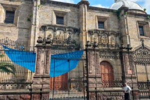A Guadalajara church that has been the target of thieves.