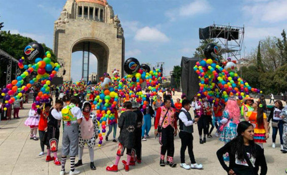 Clowns in Mexico City on Wednesday.