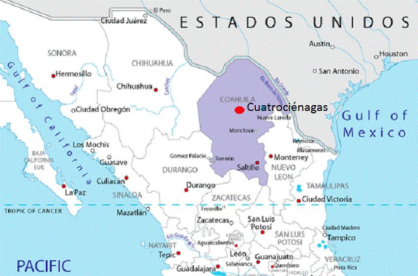 Cuatro Ciénegas biosphere reserve in Coahuila.
