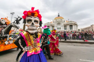 Preparations are under way for Mexico City's Day of the Dead parades.
