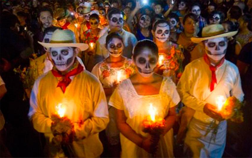 Celebrating Hanal Pixan in Yucatán.