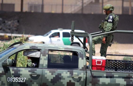 National Guard on patrol in Michoacán.