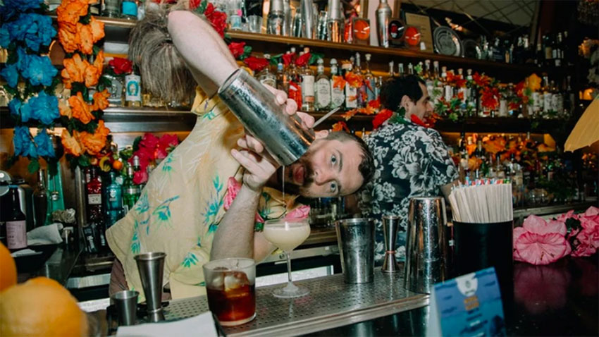 Bartender at work at Limantour, No. 10 in the word.