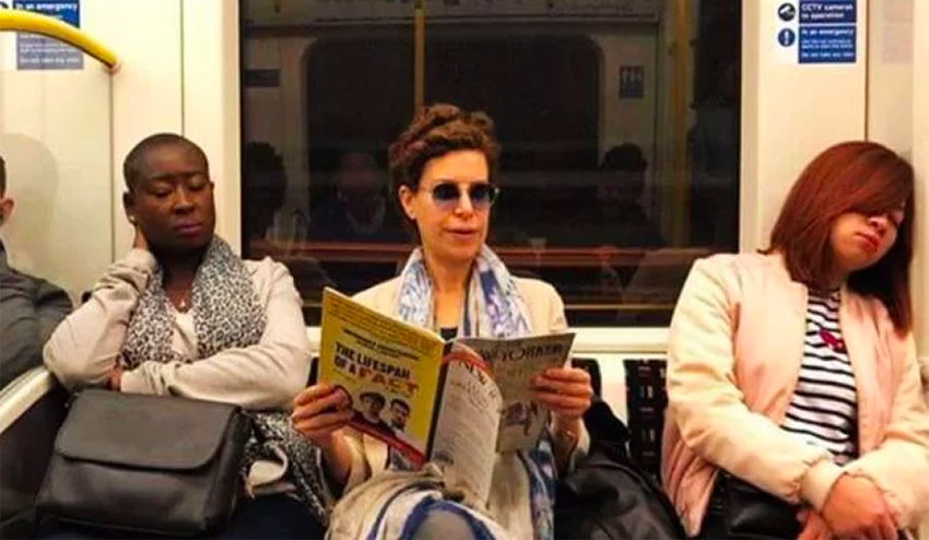 Macías was seen riding the London subway last year.