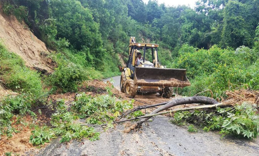 Clean-up continues in Oaxaca after Tropical Storm Narda.