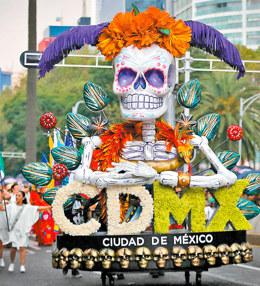 Day of the Dead comes alive in the capital on Sunday.