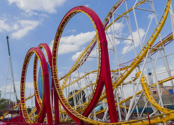 The Chapultepec park roller coaster called La Quimera.