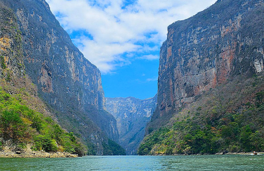 The Sumidero Canyon in Chiapas.