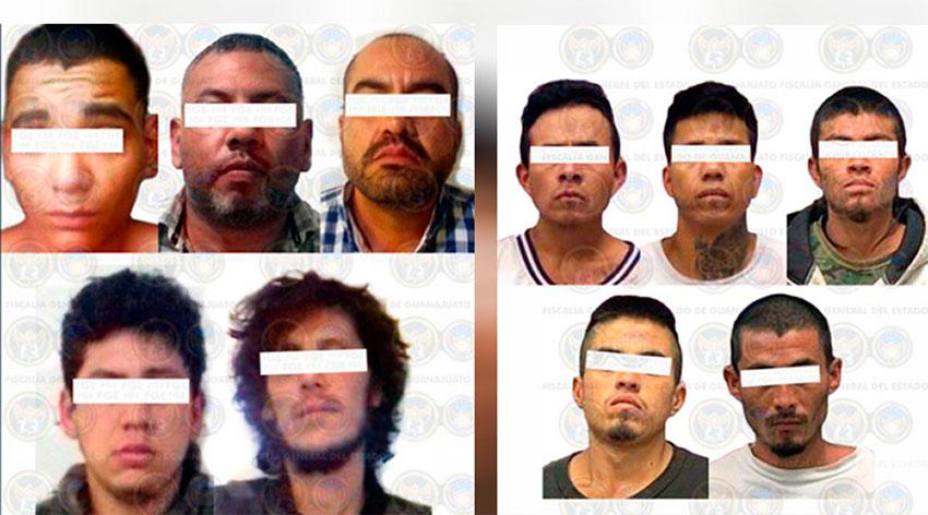 The criminal suspects arrested in San Miguel de Allende.