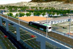 The new trolleybus line is intended to improve transportation in Iztapalapa.