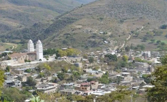 Zitlala, Guerrero, where a clash occurred between crime gangs Wednesday.