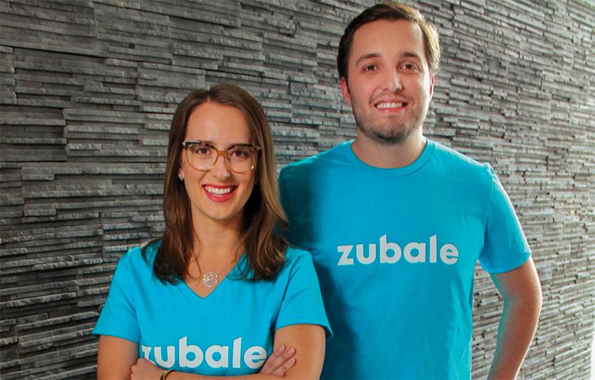 Zubale founders Allison Campbell and Sebastian Monroy.