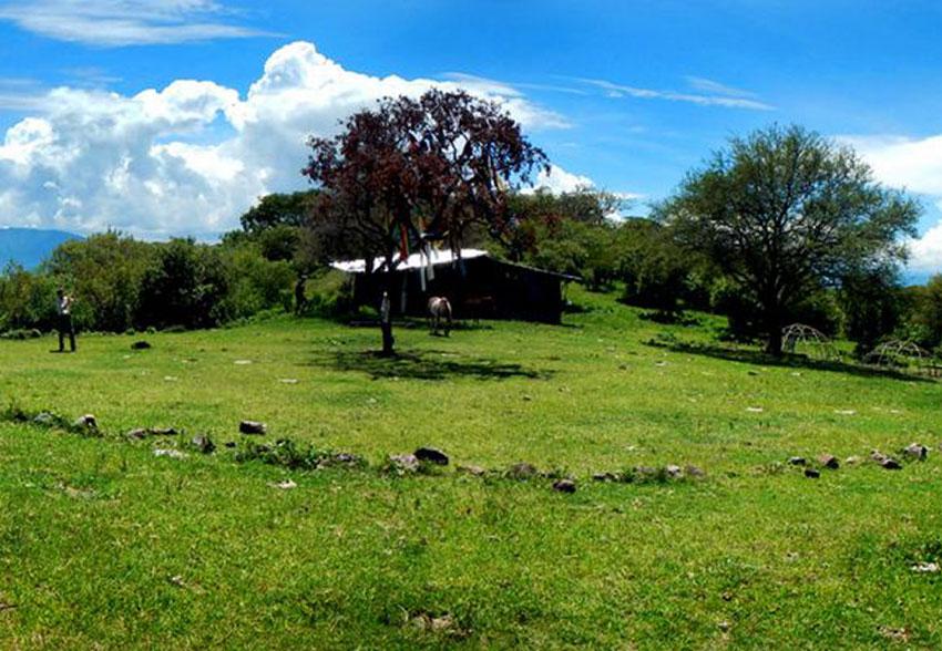 The Ceremonial Circle on La Mesa de los Encinos.
