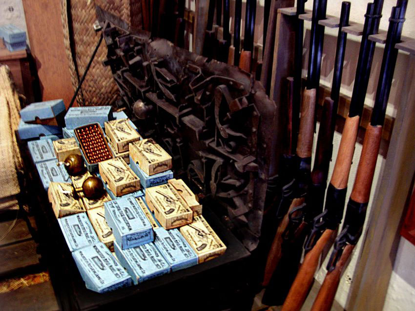 Bullets (made in US), bombs and guns stockpiled by the Serdán family.