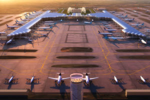 Design of the new airport by architectural firm FGP Atelier.