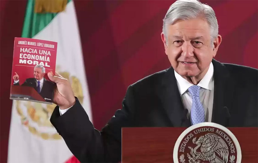AMLO and his latest book, an answer to neoliberalism.