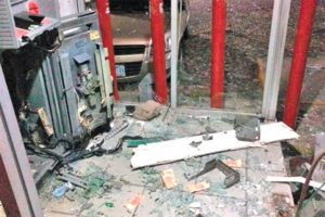 Thieves used explosives to grab the cash from this Banorte ATM.