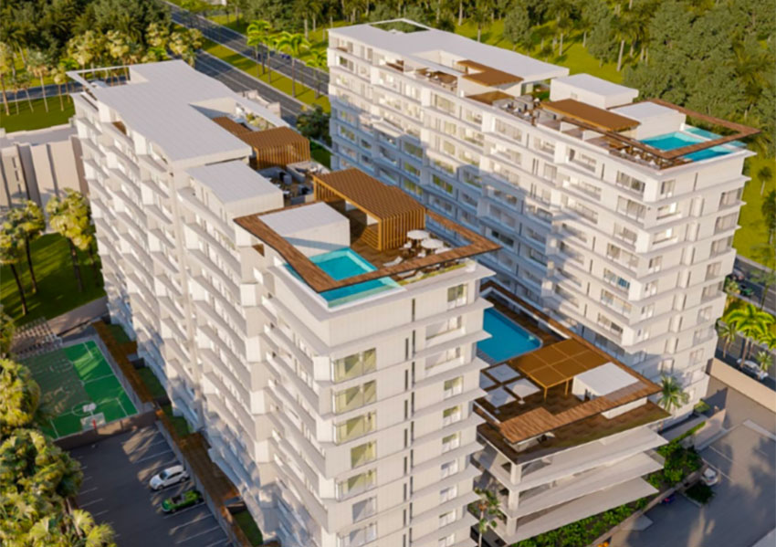 Construction began last week on this complex in Mérida.