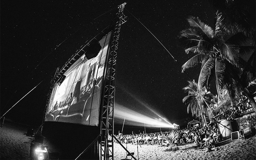 Cinema on the beach in Puerto Escondido.