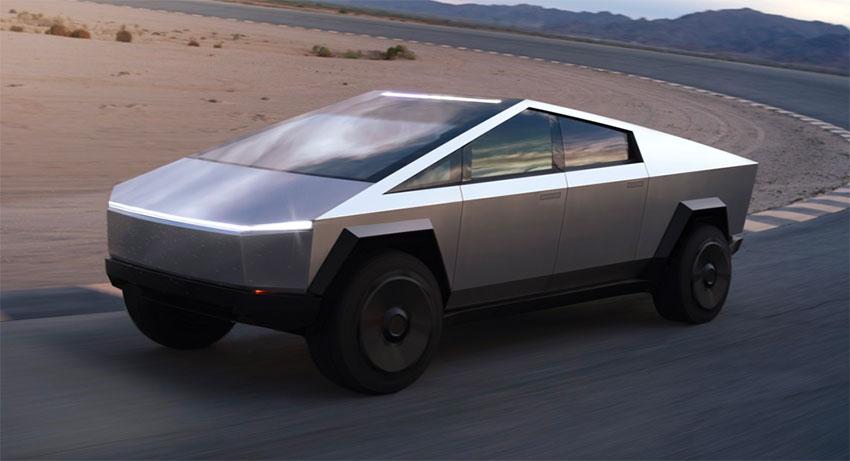 Tesla's new Cybertruck.