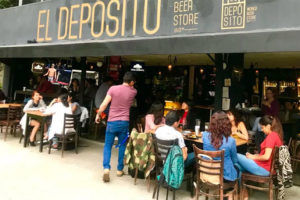 A Depósito beer bar in Mexico City.