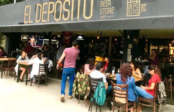 A Depósito beer bar in Mexico City.
