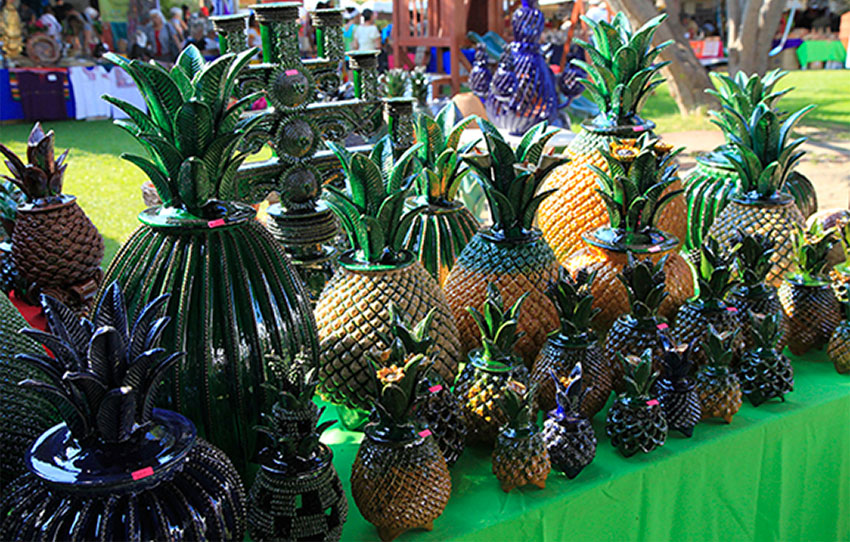 'Pineapple pottery' by Michoacán artisan Hilario Alejos will be one of the products at the Chapala fair.