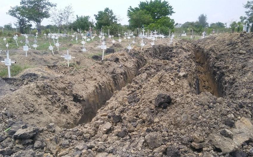 Common grave in Altamira, Tamaulipas.