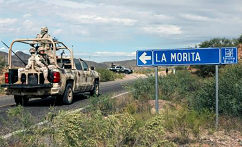 National Guard patrol in northern Mexico.