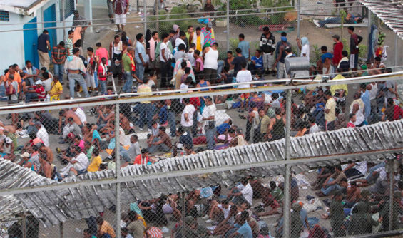 A Mexico prison: rights commission identifies deficiencies in many.