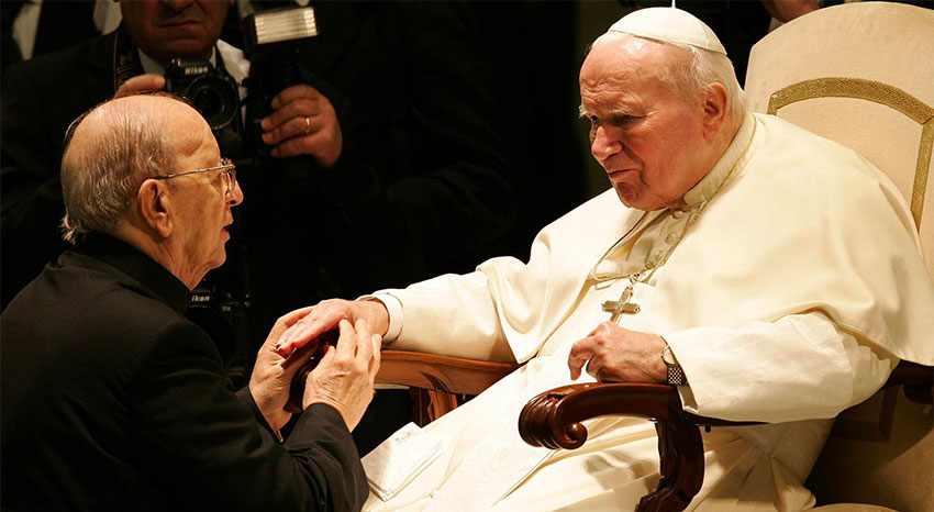 Pope John Paul II received Maciel at the Vatican in 2004.