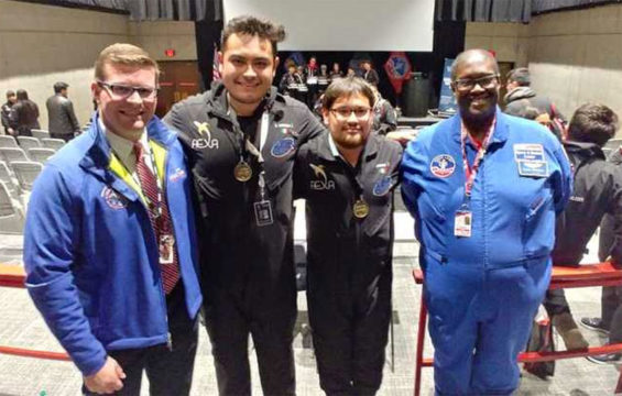 The NASA competition winners from Hidalgo.