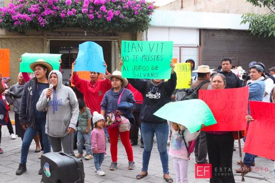 Communal landowners protest in Oaxaca in August.